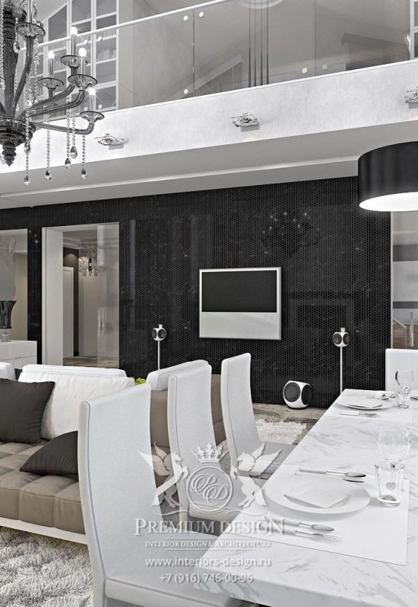 Дизайн современной столовой-гостиной