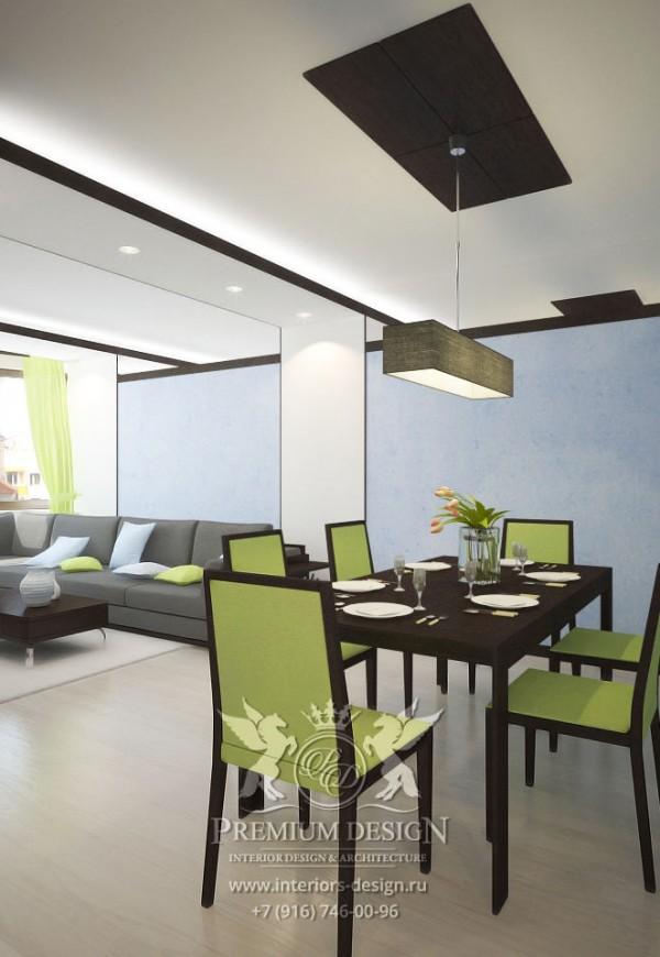 Дизайн столовой-гостиной в современном стиле