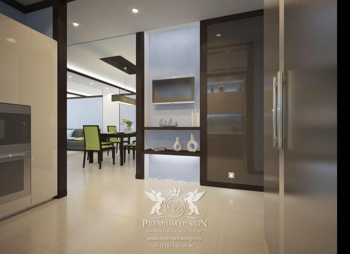 Дизайн кухни в бежево-коричневых тонах