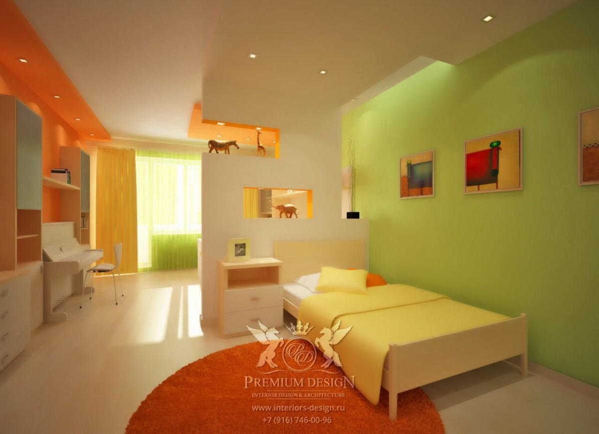 Дизайн яркой детской комнаты