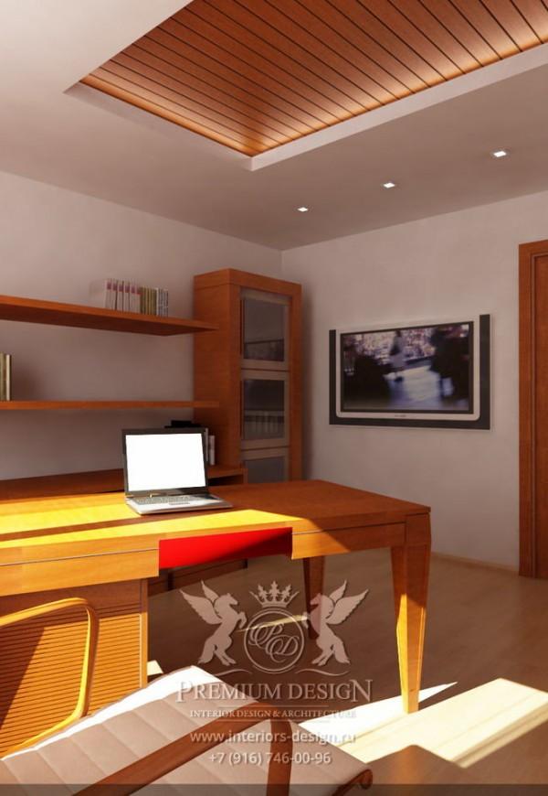 Дизайн рабочего места в коричневых тонах