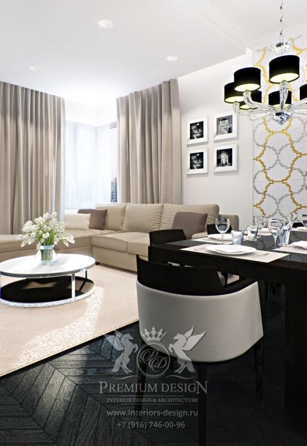 Дизайн светлой гостиной