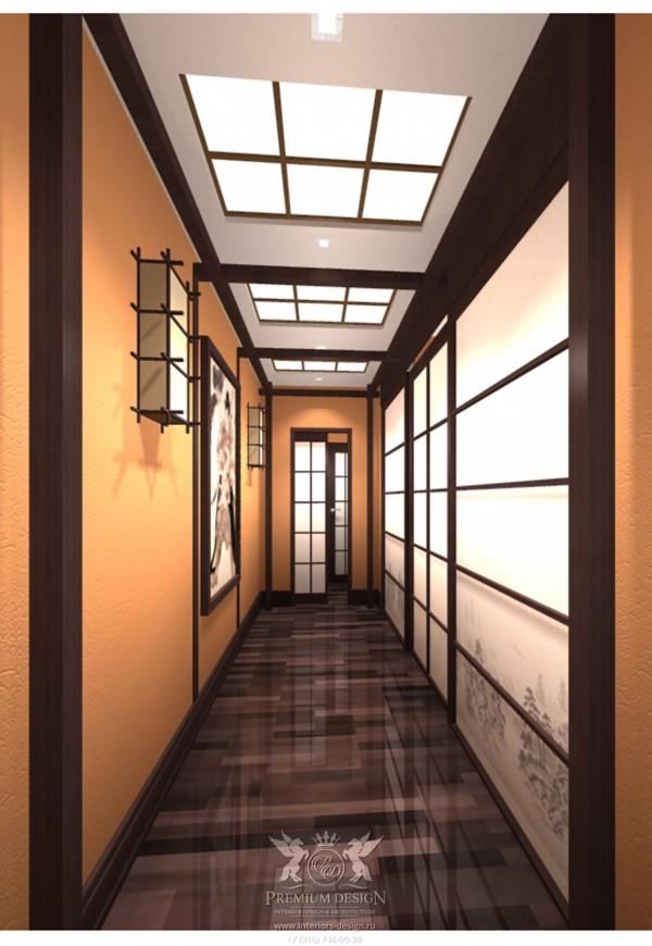 Дизайн холла японский стиль фото