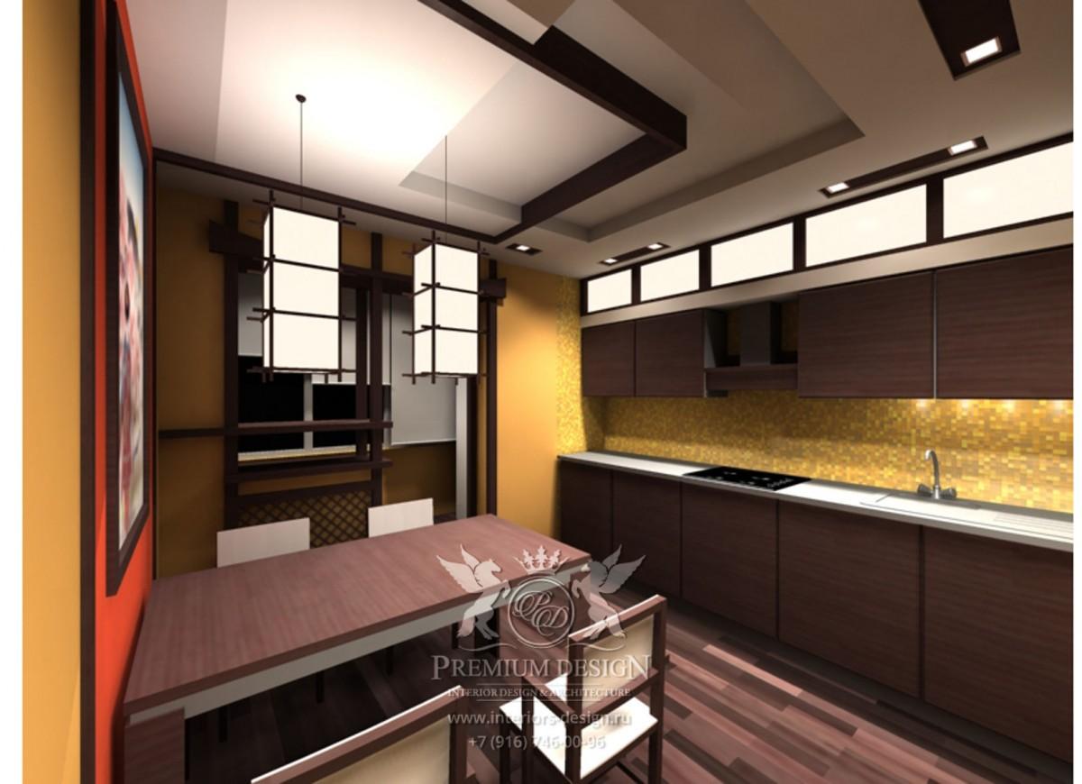 Дизайн кухни японский стиль фото