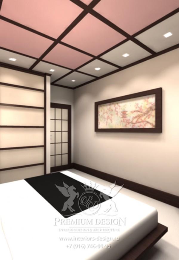 Дизайн спальни японский стиль фото