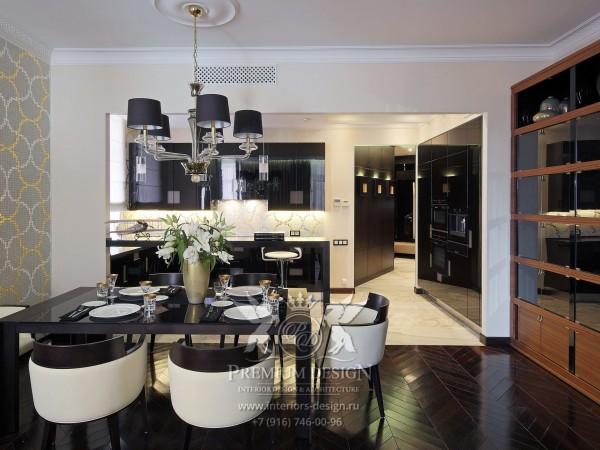 Дизайн кухни-столовой в частном доме фото