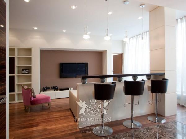 Дизайн гостиной с барной стойкой фото