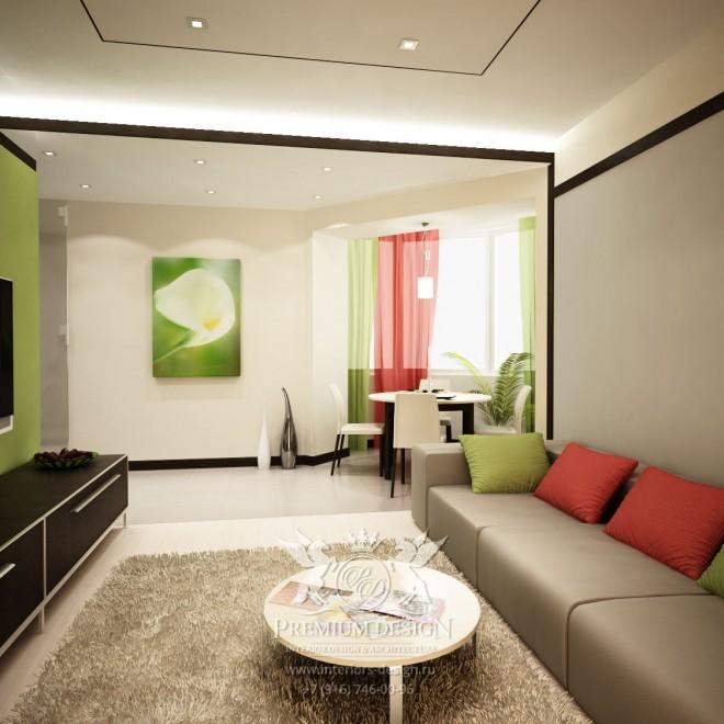 Дизайн однокомнатной квартиры в Реутово