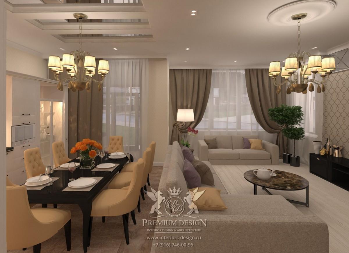 Дизайн столовой-гостиной
