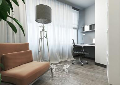 Дизайн кабинета в квартире. Фото интерьера