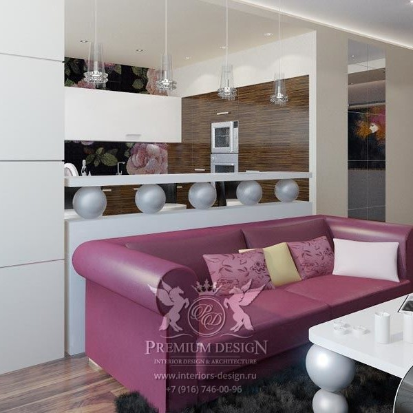 Дизайн интерьера квартиры - проезд Загорского